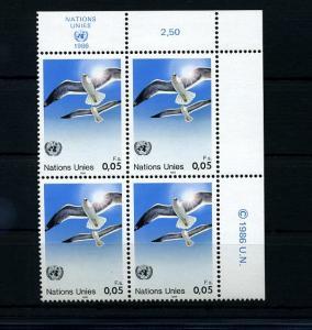 UNO GENF 1986 Nr 142 - 4er Block postfrisch (74109)