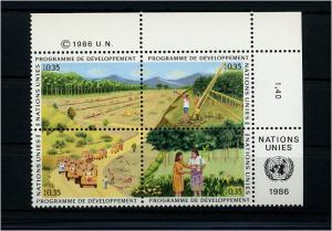 UNO GENF 1986 Nr 138-141 - 4er Block postfrisch (74103)