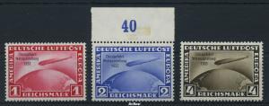 DEUTSCHES REICH 1933 Nr 496-498 ungebraucht (96302)