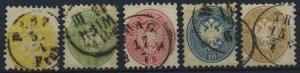 OESTERREICH 1863, Nr. 30-34 (96567)