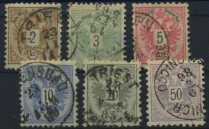 OESTERREICH 1883, Nr. 44-49 (96568)