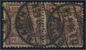 DEUTSCHES REICH 1889, Nr. 50b Paar gestempelt (96558)