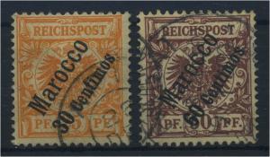 DP MAROKKO 1898, Nr. 5+6 (96832)