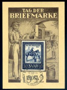 SAAR 1952, Nr. 316 Maximumkarte (96731)