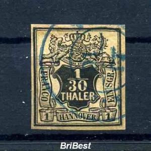 HANNOVER 1851 Nr 3 sauber gestempelt (65.-) (97645)