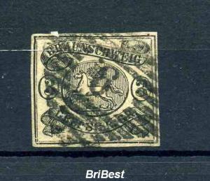 BRAUNSCHWEIG 1853 Nr 8 gestempelt (110.-) (97649)