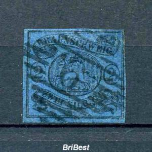 BRAUNSCHWEIG 1853 Nr 7 gestempelt (80.-) (97607)