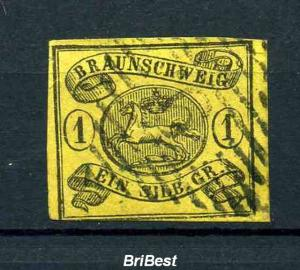 BRAUNSCHWEIG 1853 Nr 6 gestempelt (80.-) (97608)