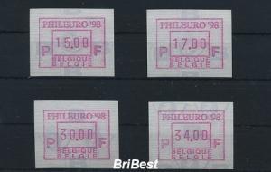 BELGIEN 1998 ATM Nr 36.1 S1 Satz postfrisch (79769)