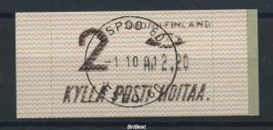 FINNLAND 1991 ATM Nr 10.1 Z2 gestempelt ME 13.- (77608)