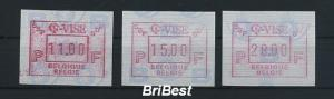 BELGIEN 1992 ATM Nr 27 S1 Satz postfrisch (79777)