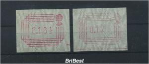 GB 1984 ATM Nr 1.2 S3 postfrisch ME 11.- (86741)
