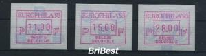 BELGIEN 1994 ATM Nr 29 S1 Satz postfrisch (79766)