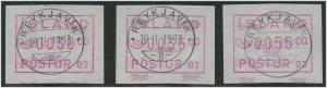 ISLAND 1993 ATM Nr 2.1 S1 gestempelt (45763)