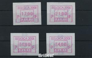 BELGIEN 2001 ATM Nr 45.1 S1 Satz postfrisch (79788)