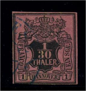 HANNOVER 1851 Nr 3 sauber gestempelt (95798)