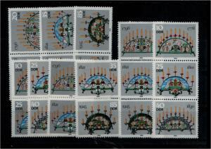 DDR 1986 Nr 3057-62 alle ZD kpl postfrisch (94028)