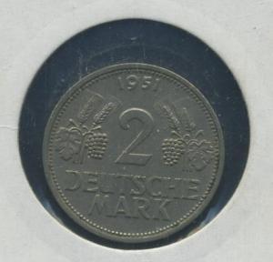 BUND - 2DM 1951G Aehre und Trauben ss-vz (92170)