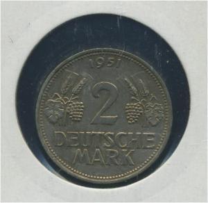 BUND - 2DM 1951F Aehre und Trauben ss (92172)