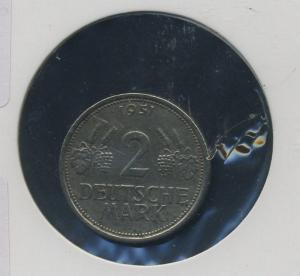 BUND - 2DM 1951J Aehre und Trauben ss-vz (92173)