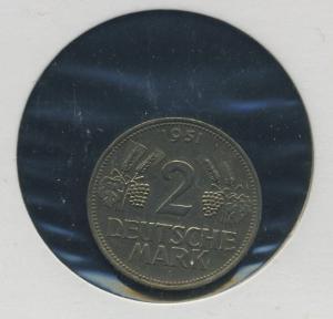 BUND - 2DM 1951F Aehre und Trauben ss-vz (92164)