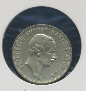 SACHSEN - 3Mk 1909E Friedrich August, ss-vz (92297)