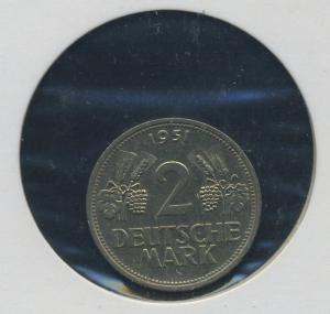 BUND - 2DM 1951F Aehre und Trauben ss-vz (92167)