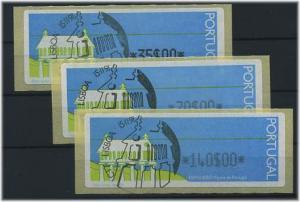 PORTUGAL 1992 ATM Nr 4 Satz S2 gestempelt (46107)