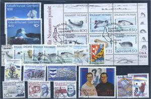 GROENLAND Lot aus 1991-1992 gestempelt (102214)