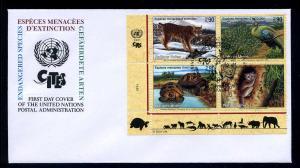 UNO GENF 2001 Nr 409-412 gestempelt (102705)