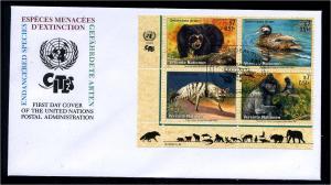 UNO WIEN 2001 Nr 327-330 gestempelt (102706)