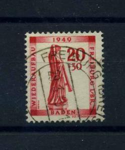 FRZ.ZONE - BADEN 1949 Nr 40A gestempelt (103505)