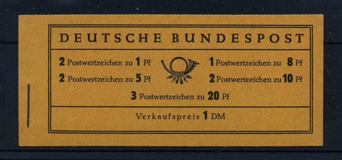 BUND 1958 MH 4YI postfrisch (103562) 0