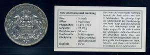HAMBURG 5Mark 1898 siehe Beschreibung (103563)