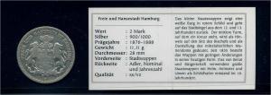 HAMBURG 2Mark 1876 siehe Beschreibung (103570)