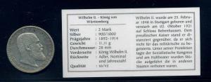 WUERTTEMBERG 2Mark 1906 siehe Beschreibung (103571)