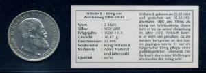 WUERTTEMBERG 3Mark 1909 siehe Beschreibung (103573)