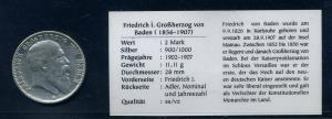 BADEN 2Mark 1905 siehe Beschreibung (103577)