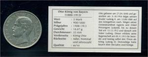 BAYERN 3Mark 1909 siehe Beschreibung (103582)