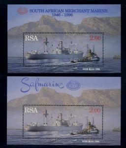 SUEDAFRIKA Motivblock SCHIFFE postfrisch (103636)