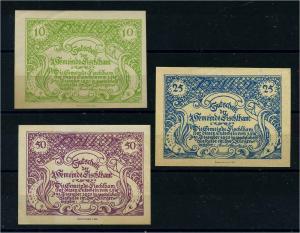 3 Notgeldscheine 1920 FISCHLHAM siehe Beschreibung (103720)