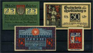 4 versch. NOTGELDSCHEINE 1921 siehe Beschreibung (103818)