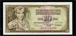 10 Dinar 1978 Banknote JUGOSLAWIEN siehe Beschreibung (103828)