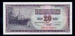 20 Dinar 1978 Banknote JUGOSLAWIEN siehe Beschreibung (103859)