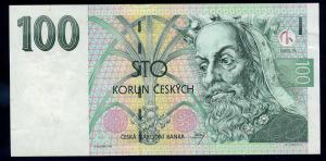 100 Korun 1997 Banknote TSCHECHOSLOWAKEI siehe Beschreibung (103861)
