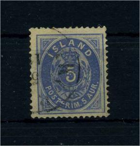 ISLAND 1876 Nr 6A gestempelt (110409)