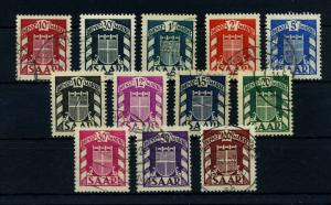 SAARLAND 1949 Nr D33-44 gestempelt (110504)