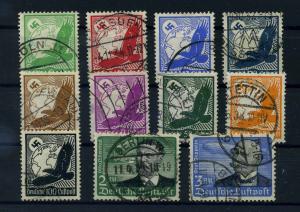 DEUTSCHES REICH 1934 Nr 529-539 gestempelt (110623)