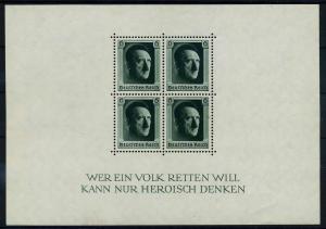 DEUTSCHES REICH 1937 Block 7 postfrisch (110654)