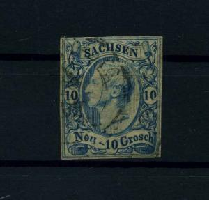 SACHSEN 1856 Nr 13 gestempelt (110698)